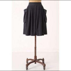 Anthropologie Maeve Effortless Skirt in Navy